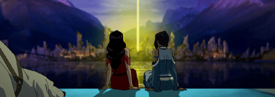 Korra and Asami in the series finale
