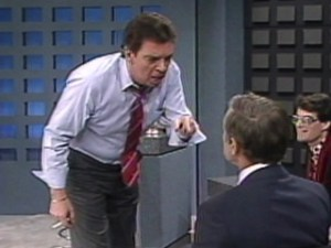 "Morton Downey Jr. on ""The Morton Downey Jr. Show"""