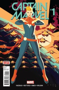 Captain Marvel cover Kris Anka