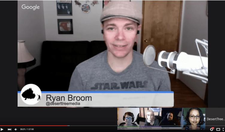 screenshot google hangout podcast