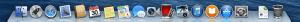 The docker on a Mac desktop
