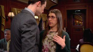 Season 7 Episode 15 Sheldon kisses Amy