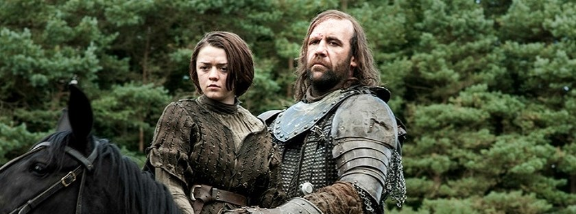 game of thrones arya stark the hound