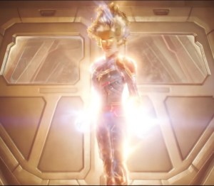 glowing captain marvel