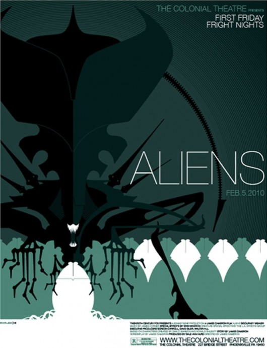 Aliens movie poster by Tom Whalen