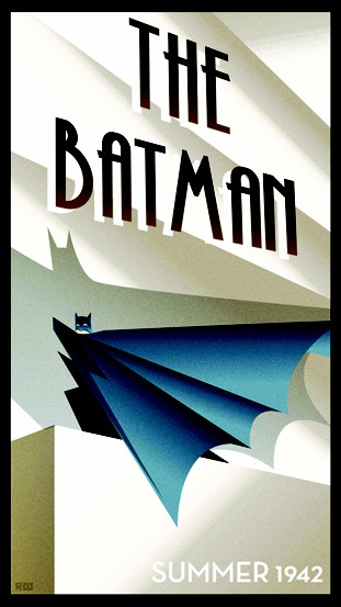 Batman Art Deco Poster