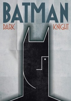 Batman Dark Knight Art Deco Poster