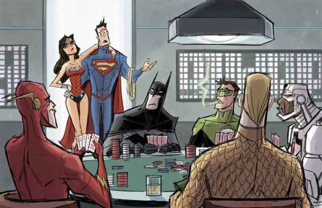 Justice League Poker by Bobby Rubio