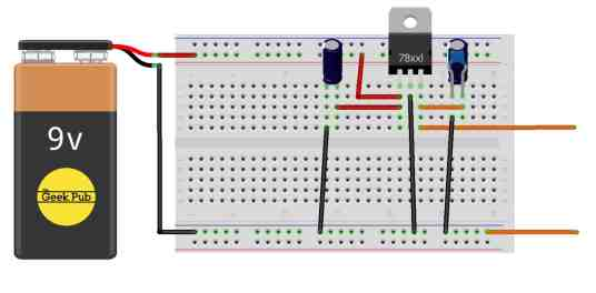 voltage regulator wiring diagram fritzing style