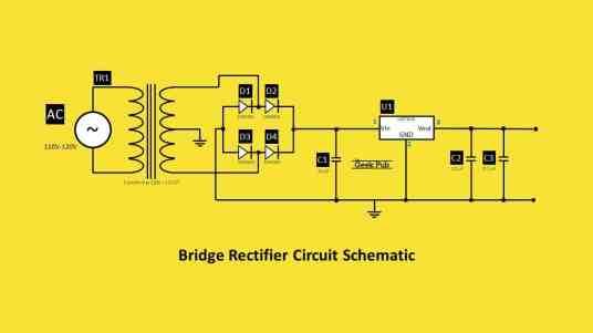 Bridge Rectifier Circuit Schematic