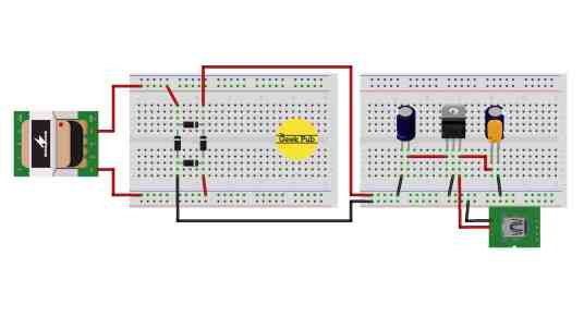 USB Charger Circuit Wiring Diagram Fritzing