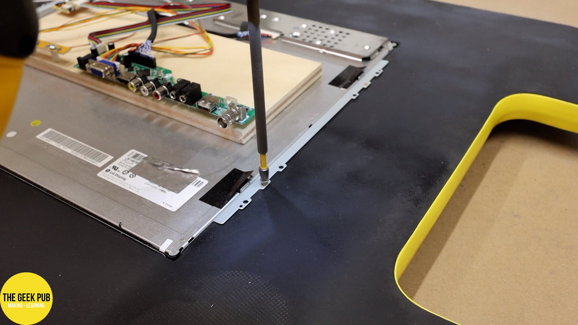 Cocktail Table Arcade LCD Install