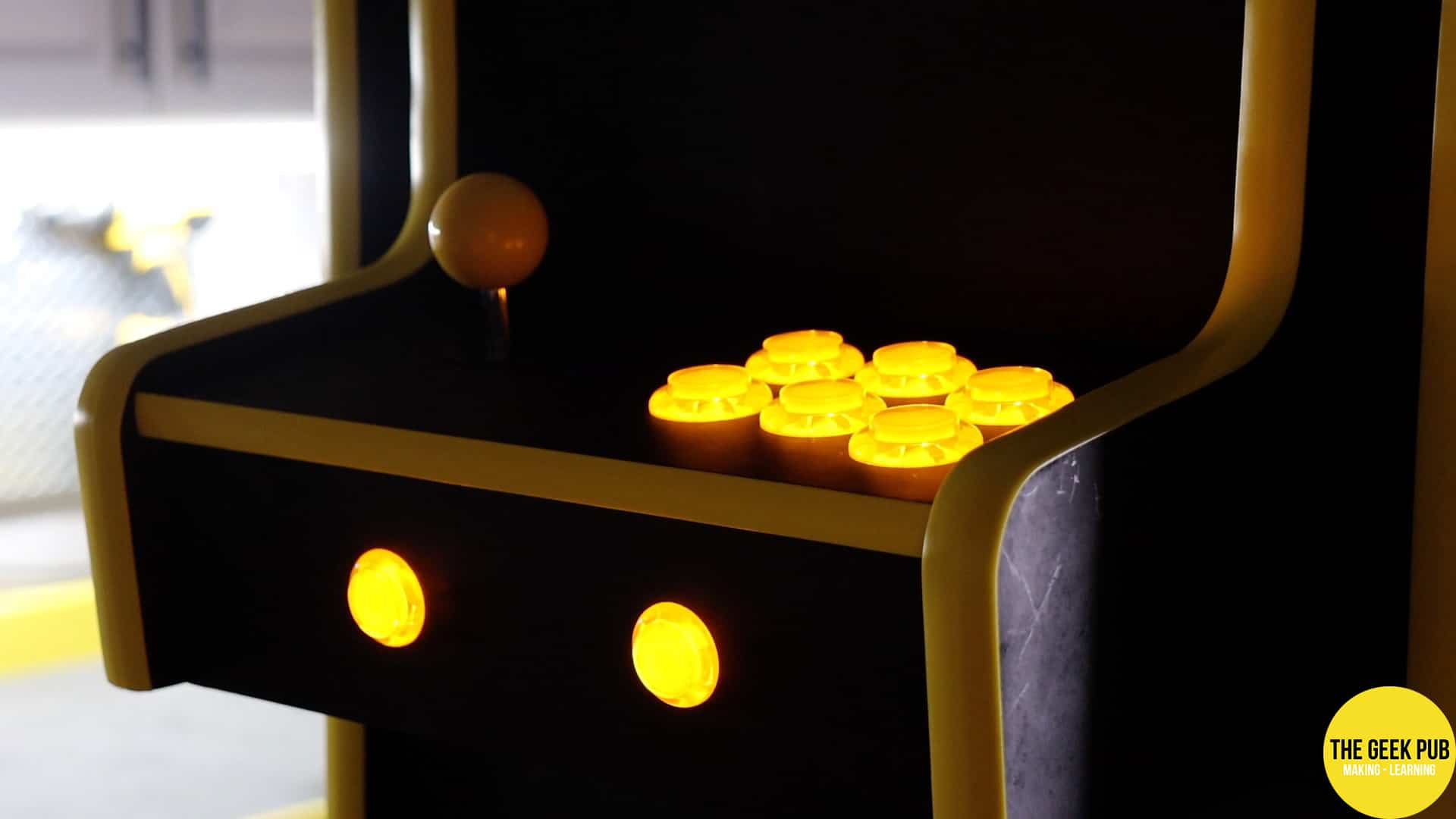 Cocktail Table Arcade Lighted Control Panel