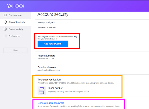 Securely Sign to Yahoo Mail