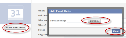 how to create an event facebook