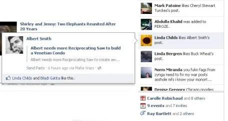 facebook launches ticker