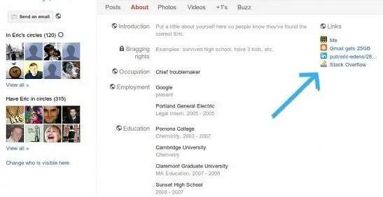 google profile link