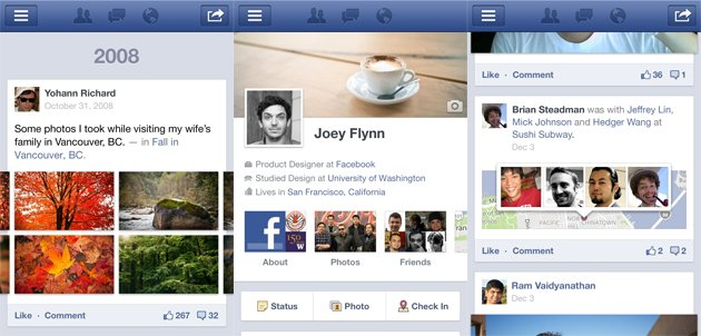 Facebook Timeline for Android