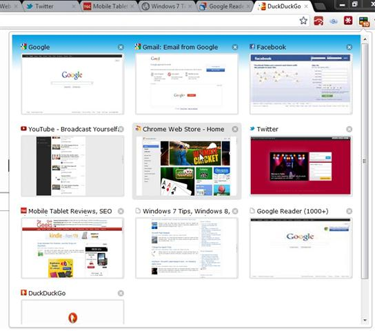 How to Preview all the Open Tabs in the Chrome?