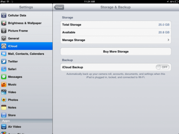backup restore iPad data