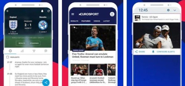 Eurosports App for Android