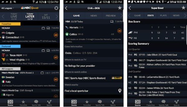 NBC Sports app for Android
