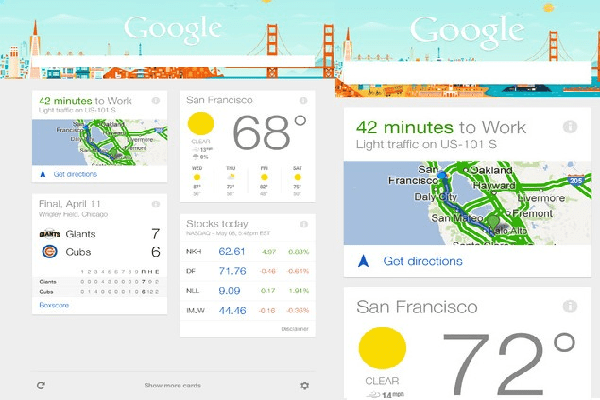 Google Now on iOS