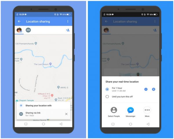 share Real-Time Location in Google Maps using Manual Mode