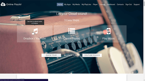 Play Music Directly from Dropbox Account