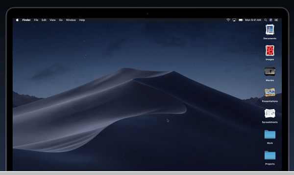 Stack Files in macOSX List of newfeatures of macOS Mojave