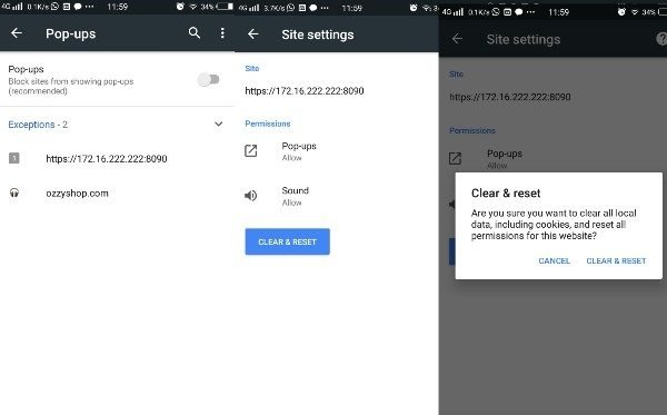 Disable ad pop-ups in Android in Chrome