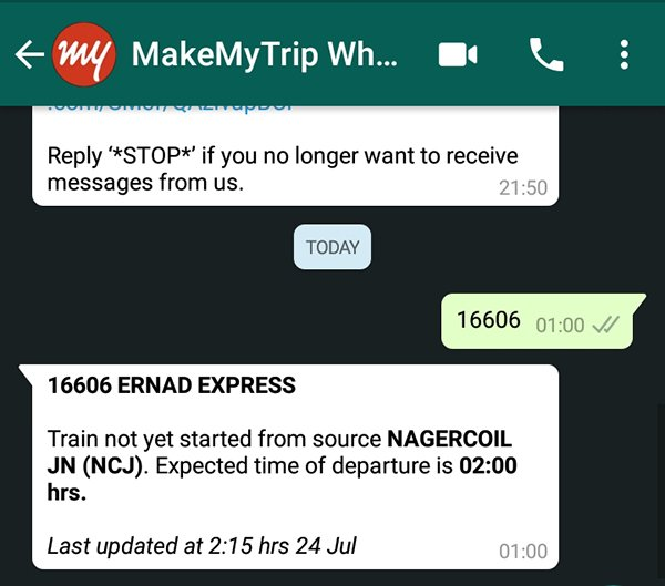 How to check Train Status and PNR on WhatsApp Quickly