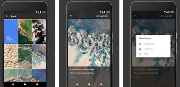 Google Wallpaper Android app