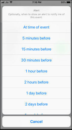 Notification for Shortcuts