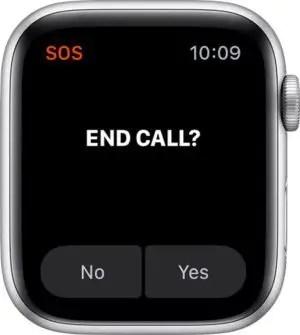 SOS Call option to end call