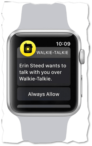 Conversation mode enabled in Apple Watch Walkie-Talkie