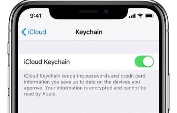 Enable iCloud Keychain
