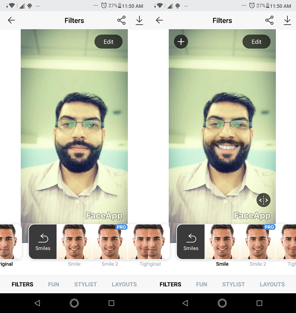 FaceApp Face Effects