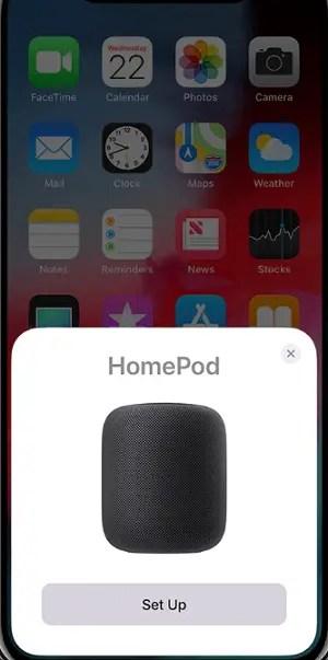 HomePod Setup Notification