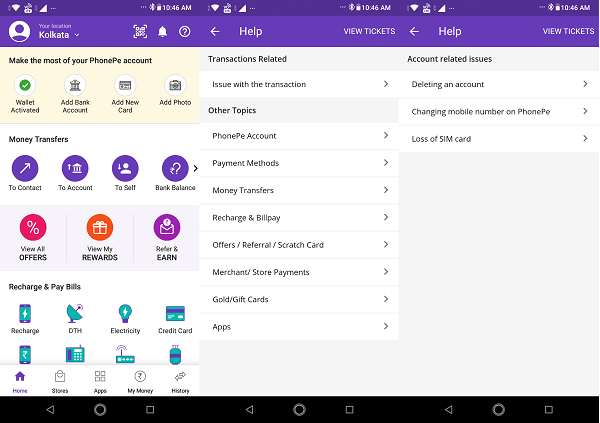 How to deactivate or delete PhonePe account