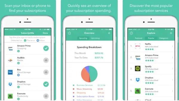 SubscriptMe iOS subscription tracker app