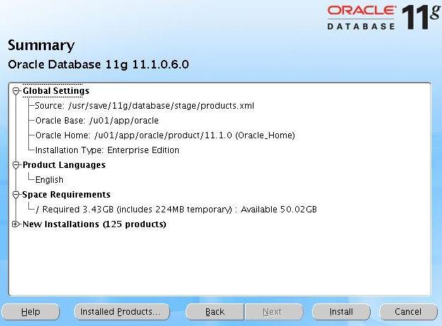 [Install Summary Screen]