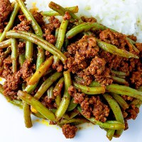 String Beans with Ground Beef