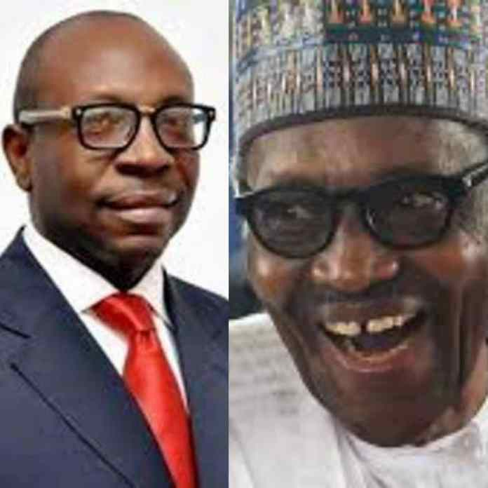 BREAKING: Buhari And Ize-Iyamu, Edo Governor Candidate Meet In Abuja