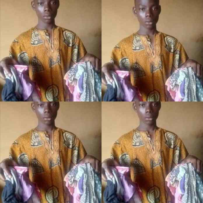 Photo of 16-Year-Old Boy Arrested With 14 Used Female Panties In Ogun