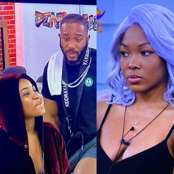 #bbnaijalockdown2020: Kiddwaya Tells Erica How To Handle Vee