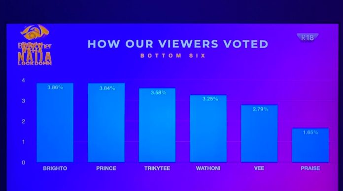 #bbnajia2020: How Viewers Voted For Their Favourite Housemates This Week