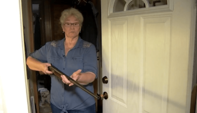 AMAZING!!! See How A Brave 78-year-old Granny Apprended An Intruder In Her House