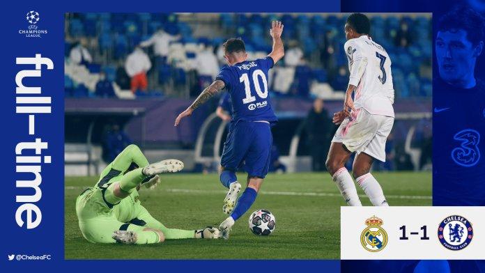 BREAKING: Chelsea Draws Real Madrid 1-1 As Eden Hazard Play Against Former Club - #RMACHE