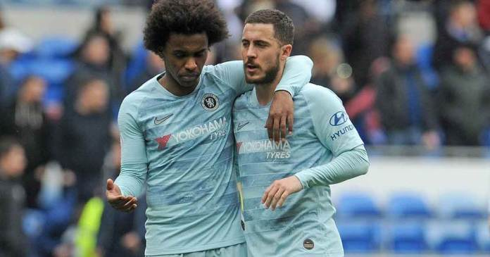 Flopped Chelsea Duo, #Willian And Eden Hazard Reportedly Want A Return To Stamford Bridge